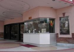 Expanded ticket booth added to the Villa Theatre in 1996