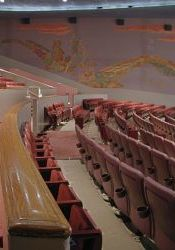 The three partitions at the back of the lower seating section in 2003