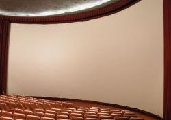 The curved screen of the Villa Theatre in 2003