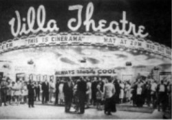 Theater entrance during premiere