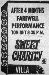 "Ad for ""Sweet Charity""."