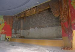 The stage of the Villa Theatre in Salt Lake City, Utah