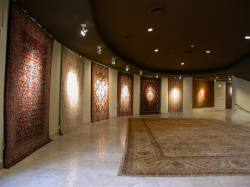 Rugs Display Along Curve Lobby Wall, Adibu0027s Rug Gallery At The Villa  Theatre, Salt